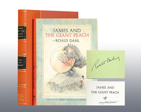 Photo of signed copy of James and the Giant Peach