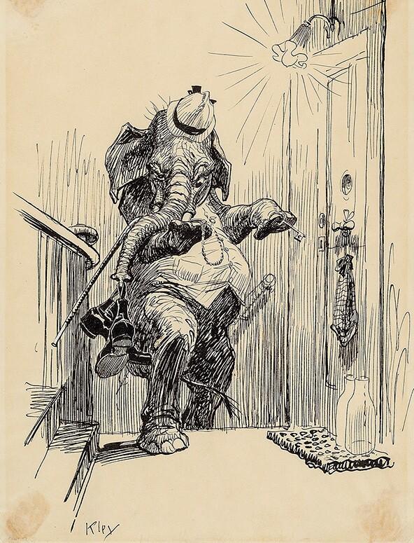 """""""Die Heimkehr"""" - Originalzeichnung von Heinrich Kley"""