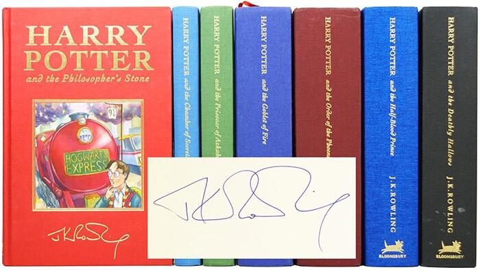 Signed Harry Potter set