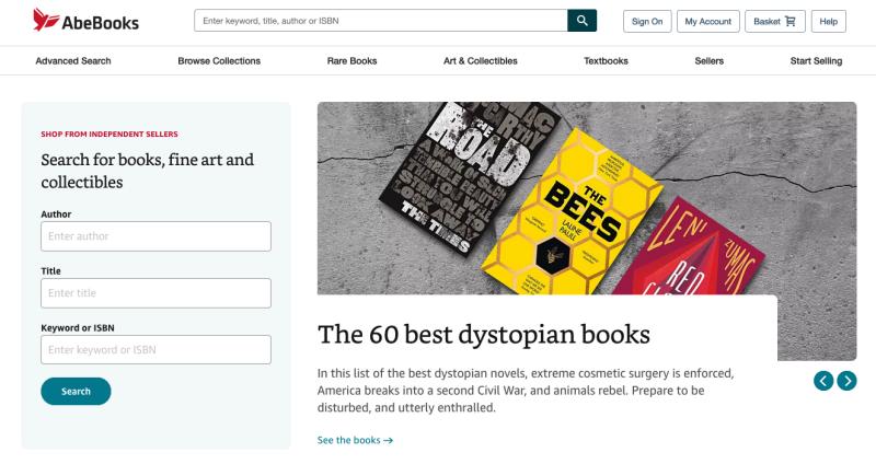 AbeBooks.com homepage